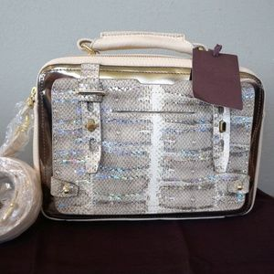 Etienne Aigner Snake Print Box Collection Purse